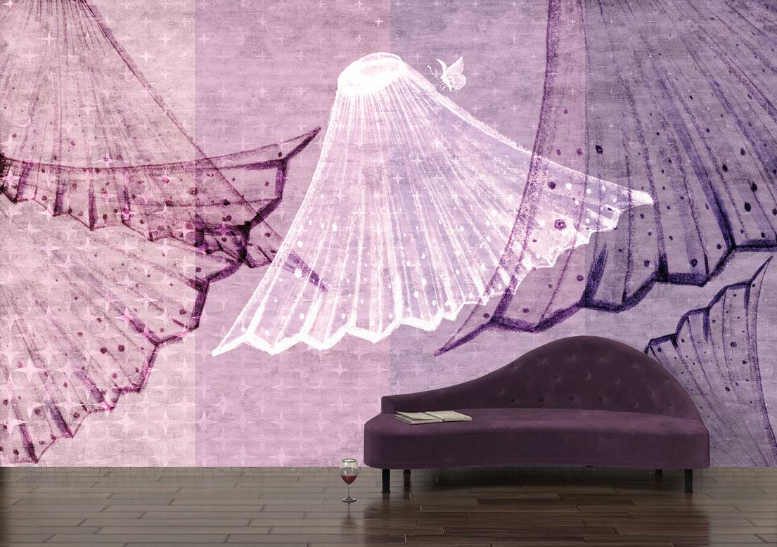 "Loft style wallpaper ""Timeless"". Wall art. Designer wallpaper."