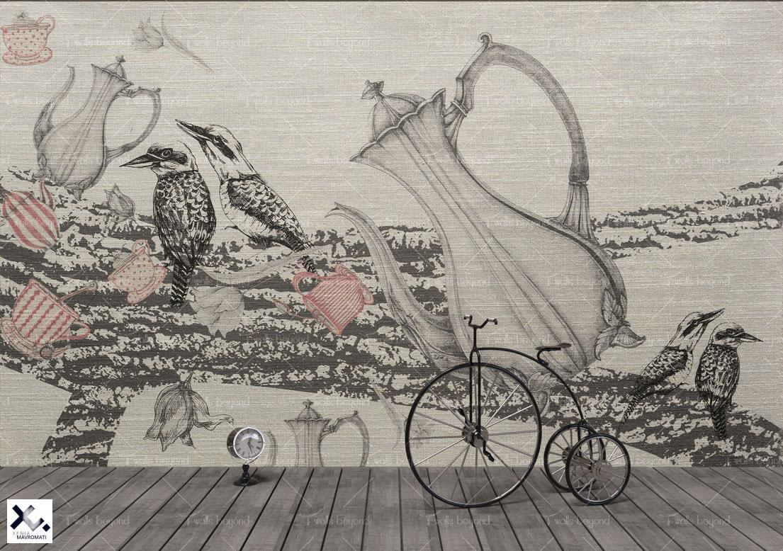 DESIGN VERSION: Printed on Grey Silk Cotton