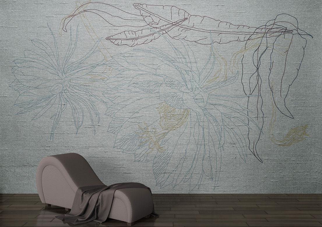 """Silk flower wallpaper. Kadupul flower on art silk wallpaper. """"Priceless""""."""