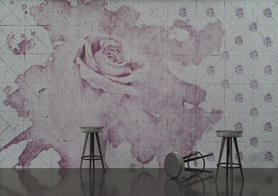 "Art silk wallpaper ""Breakfast at Tiffany's"""