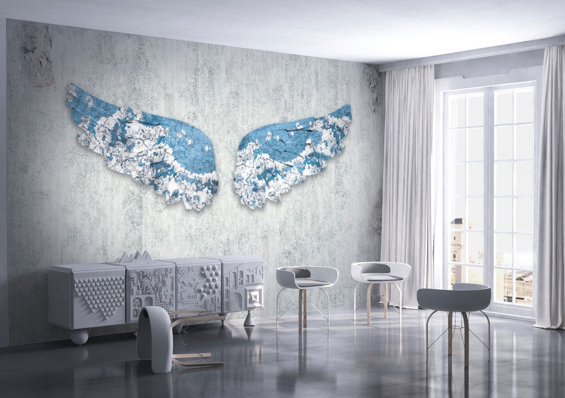 """Wings of desire"" art wallpaper by wallsbeyond.com"
