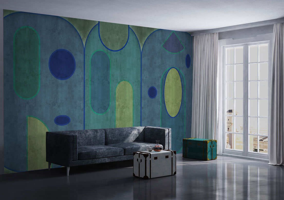 """Shapes"" art wallpaper by wallsbeyond.com"