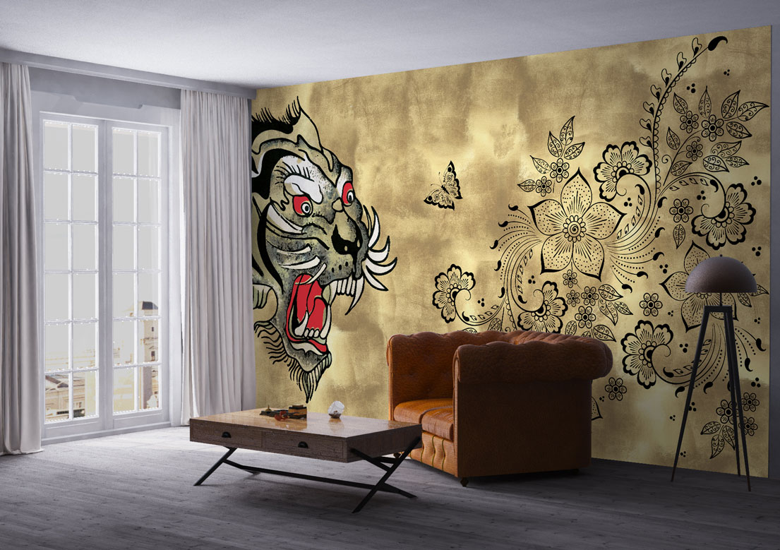 """Shere Khan"" art wallpaper by wallsbeyond.com"