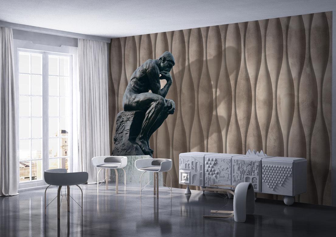 """The Thinker"" art wallpaper by wallsbeyond.com"