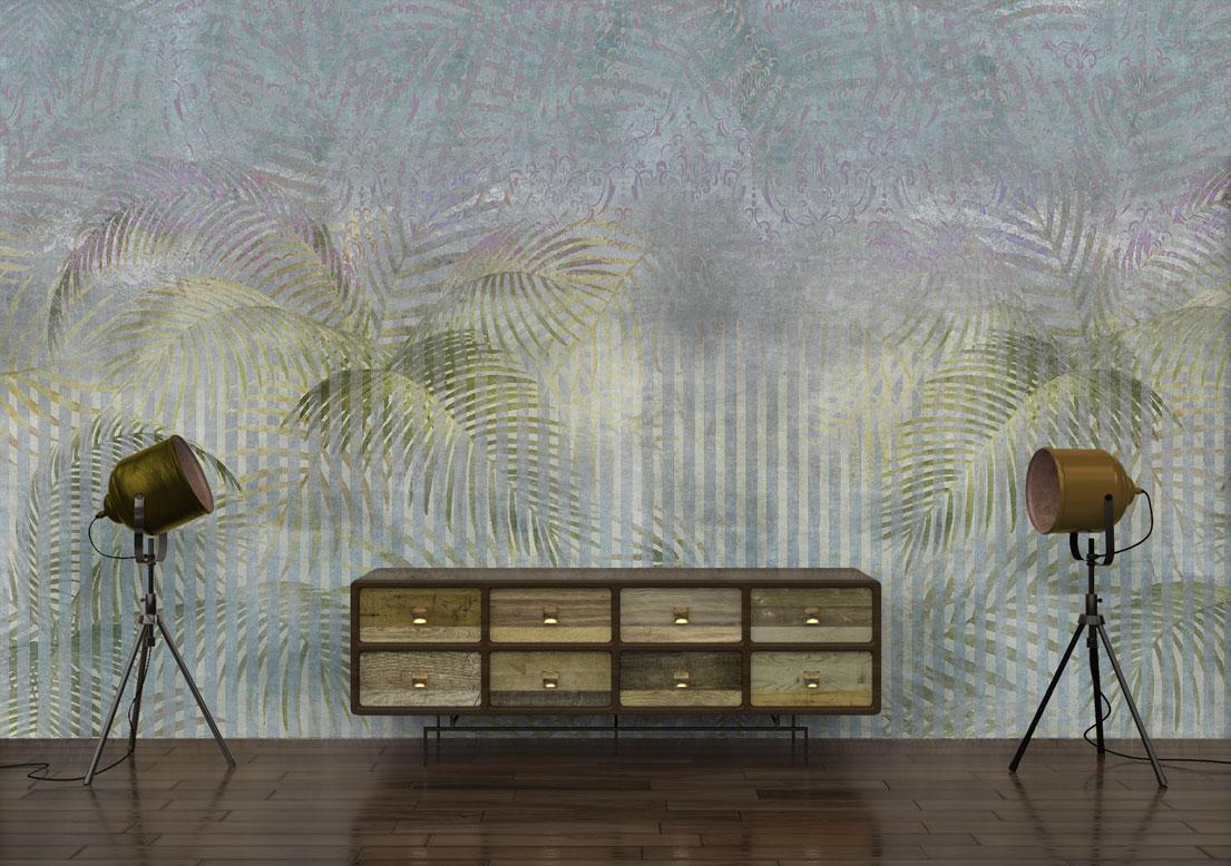 """Stripped jungle"" art wallpaper by wallsbeyond.com"