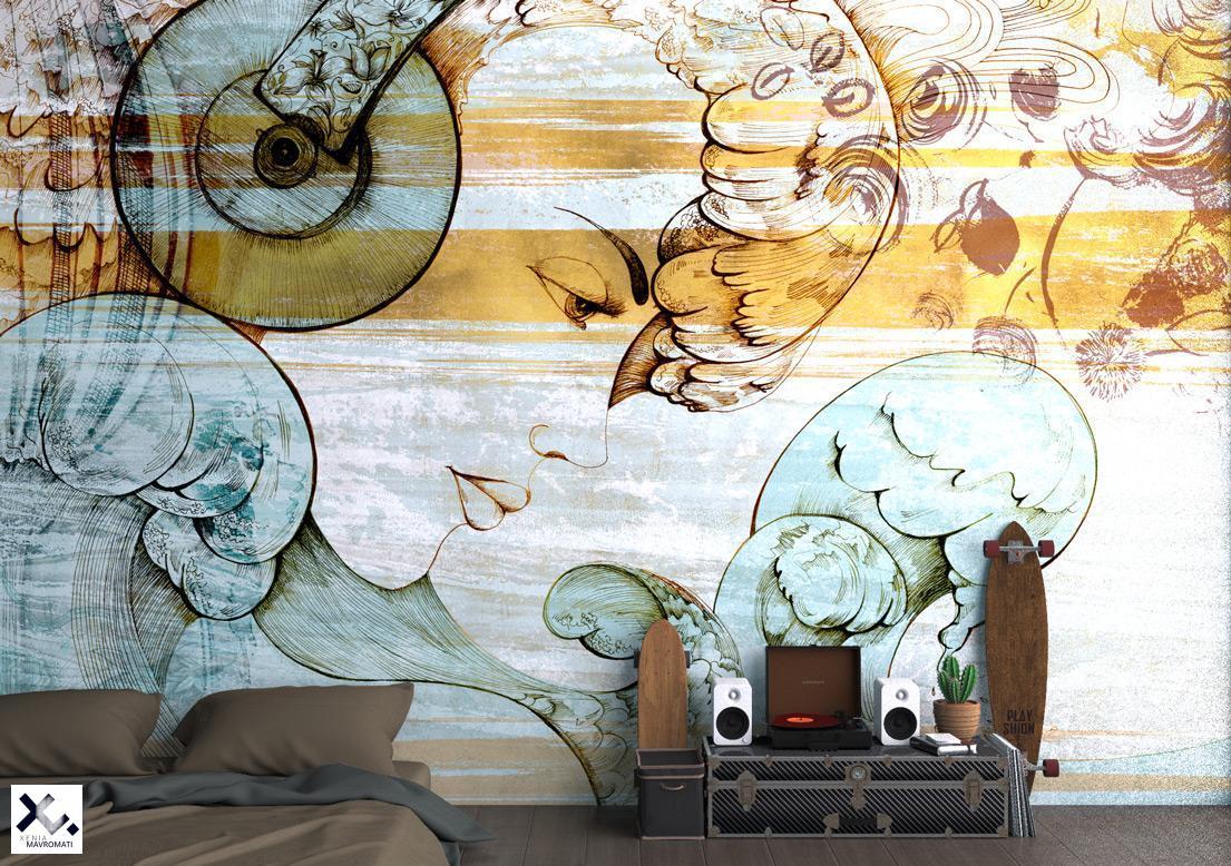 """Budha bar"" art wallpaper by wallsbeyond.com"