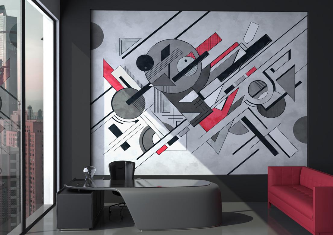 """Composition 1"" art wallpaper by wallsbeyond.com"