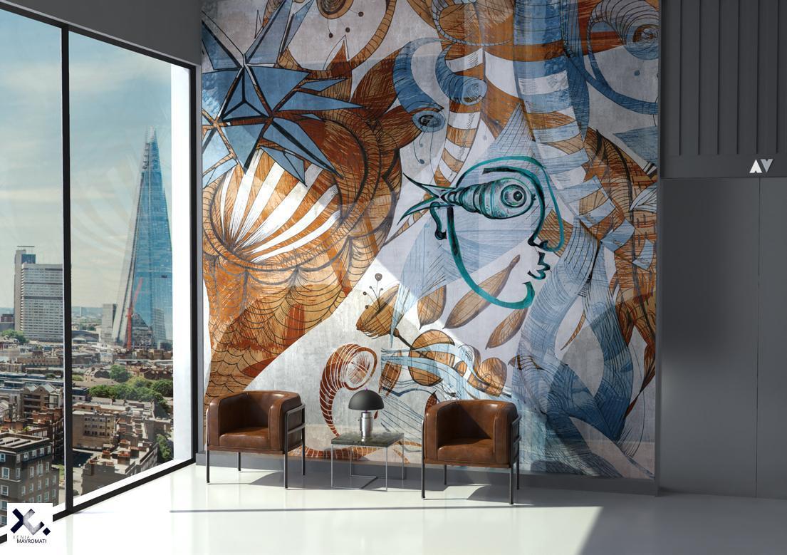 """""""Gravityless"""" art wallpaper by wallsbeyond.com"""