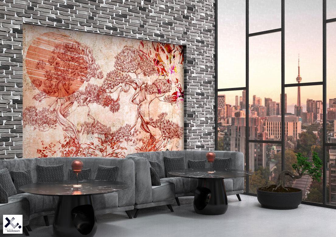 """""""Kenrokuen"""" art wallpaper by wallsbeyond.com"""