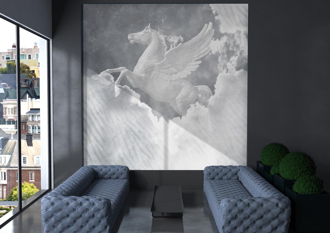 """Pegasus"" art wallpaper by wallsbeyond.com"