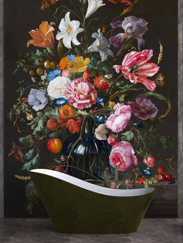 Jan-Davitsz De Heem, Vase with flowers