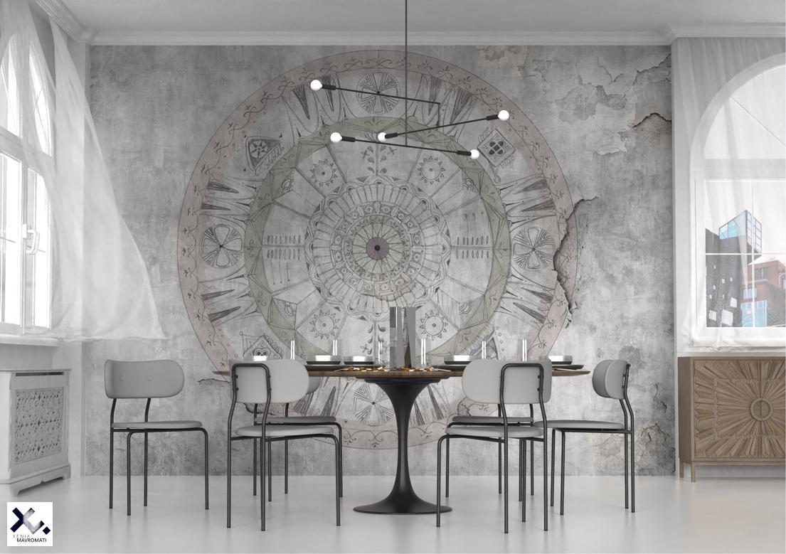 """Mandala"" art wallpaper by wallsbeyond.com"
