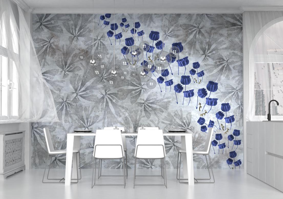 """In Blue"" art wallpaper by wallsbeyond.com"