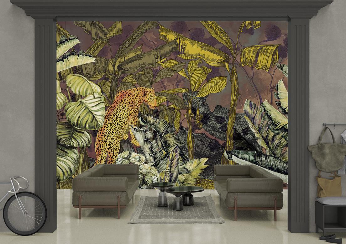 """Morning glory"" art wallpaper by wallsbeyond.com"