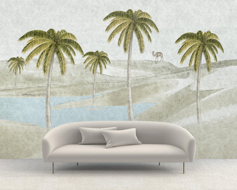 """""""Oasis"""" art wallpaper by wallsbeyond.com"""